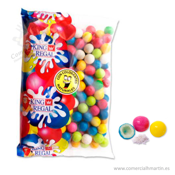 CHICLES MIX FRUTAS BOLSA 250 uds.