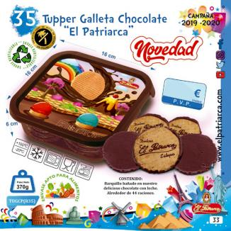 N35 TUPPER GALLETA CHOCOLATE 370 g EL PATRIARCA