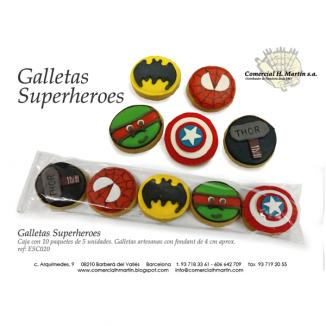 GALLETA SUPERHEROES 10 paq. 5 uds.